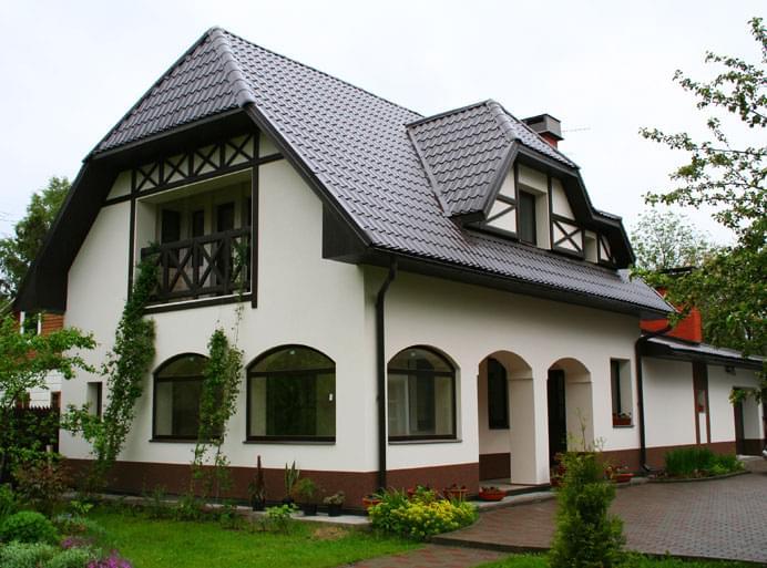 Štukatérny dom z pórobetónu