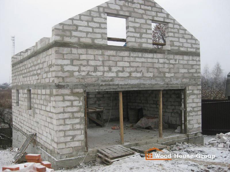 Я построил дом из пеноблоков своими руками