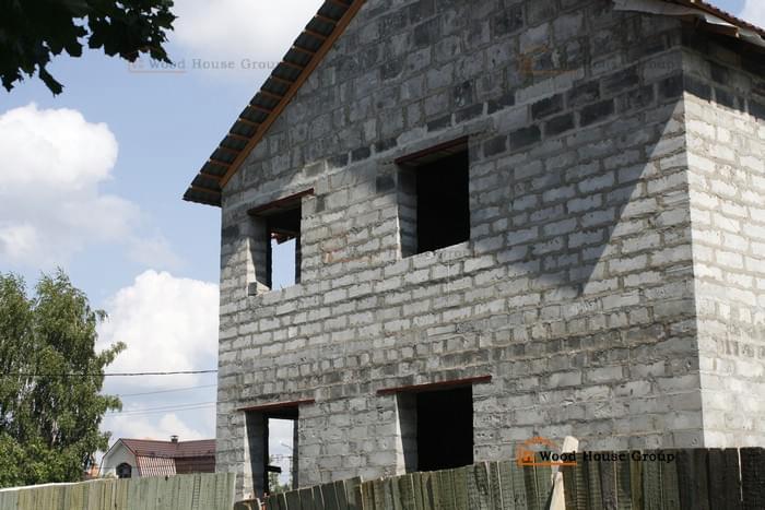 Дом из пеноблоков, Московская область, г. Монино