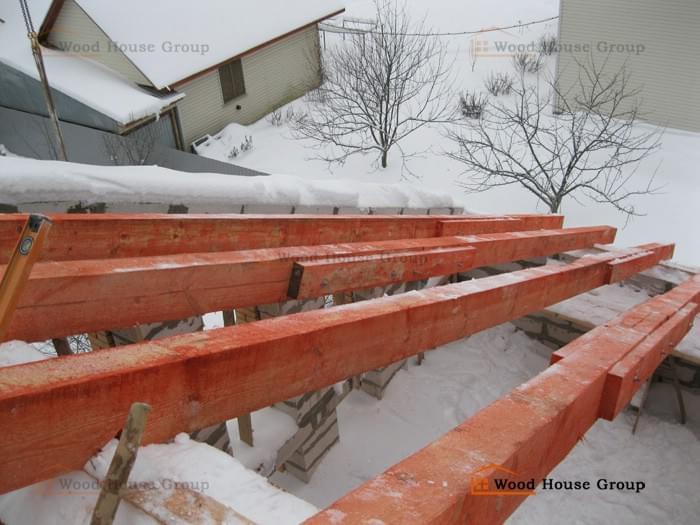 Строительство загородного дома из газобетона 375 мм с моноли.