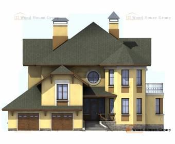 Проект дома из газобетона  Амбиент
