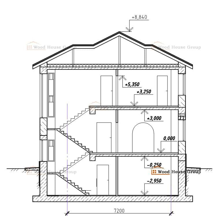 Первый этаж Второй этаж Дом в разрезе. Кредитный калькулятор