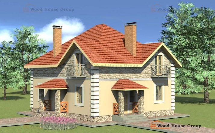 Проект дома эконом из газобетона «Божоле»