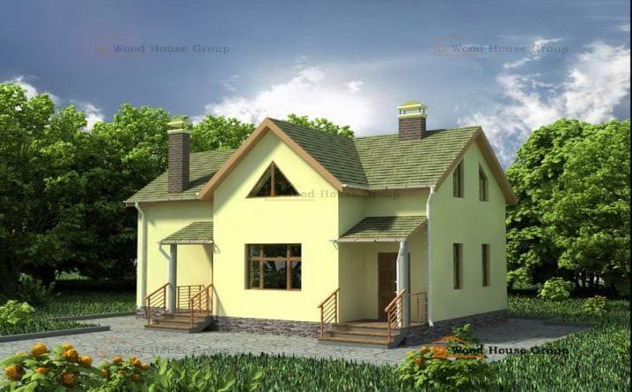 Проект из газобетона «Дом эконом 110»