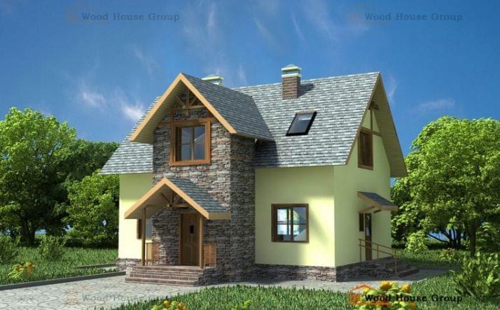 Проект из газобетона «Дом эконом 130»