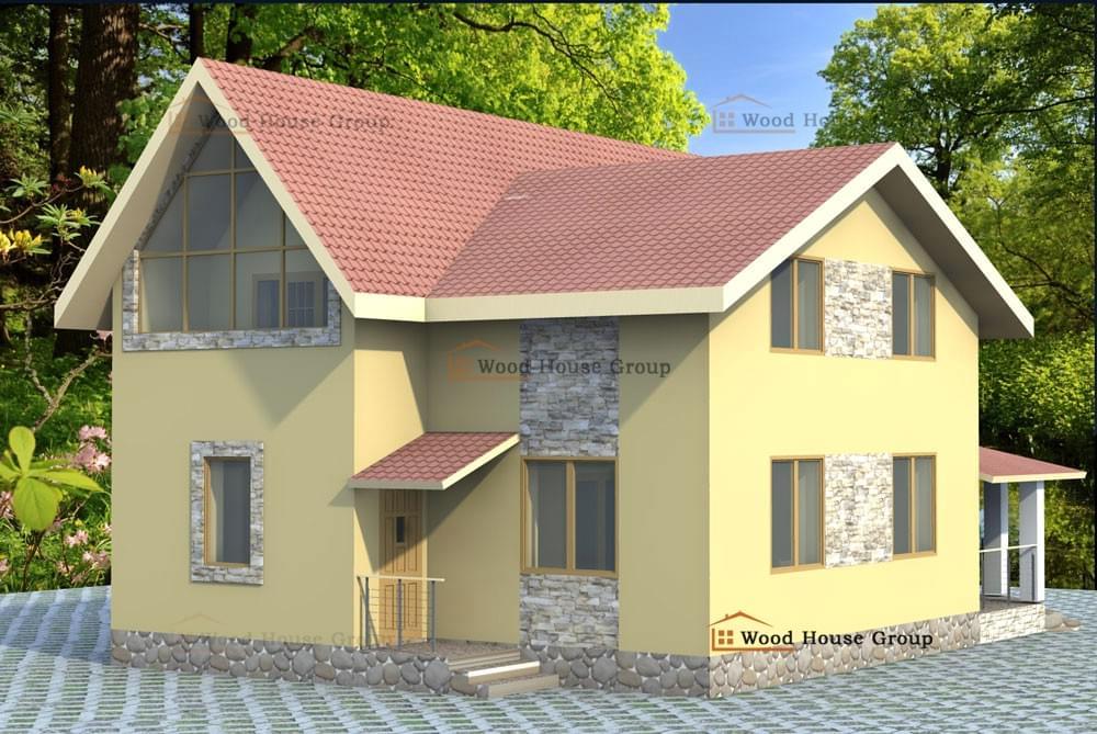 Отделка фасадов домов профлистом фото