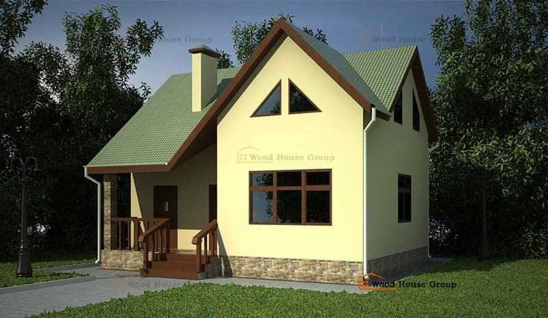 Проекты домов из пеноблоков, газобетона (ячеистого бетона