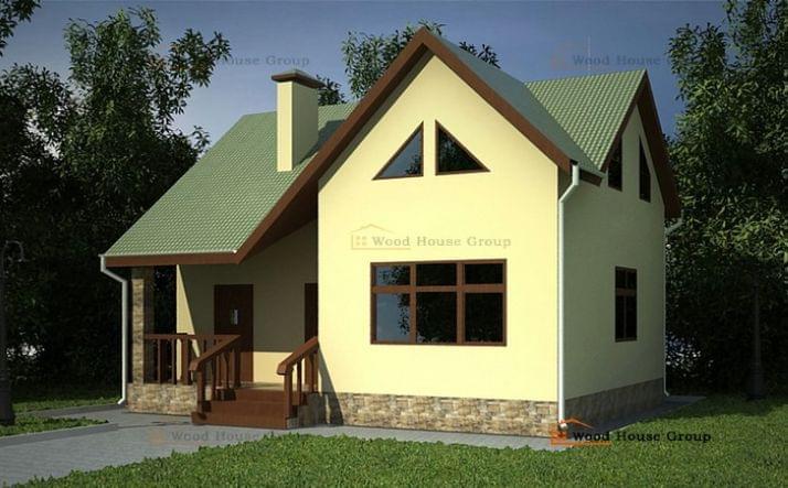 Проект одноэтажного дома из газобетона «Дом эконом 80»