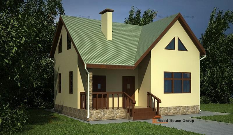 Дачные дома эконом-класса из бруса из