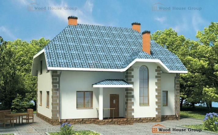 Проект дома из пеноблоков «Елена»