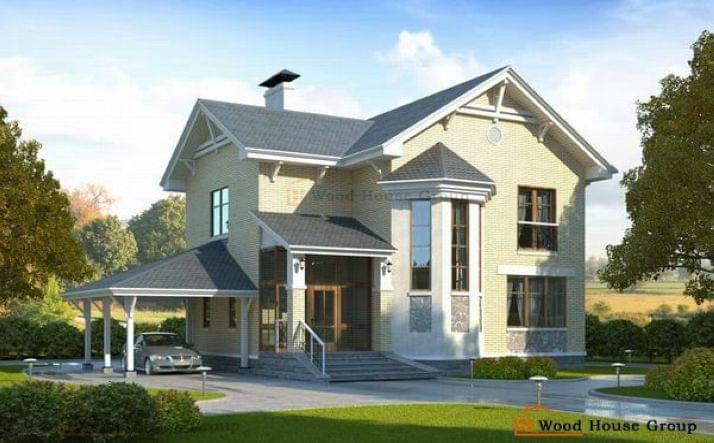Проект дома из пеноблоков для дачи «Лидер» (83A)