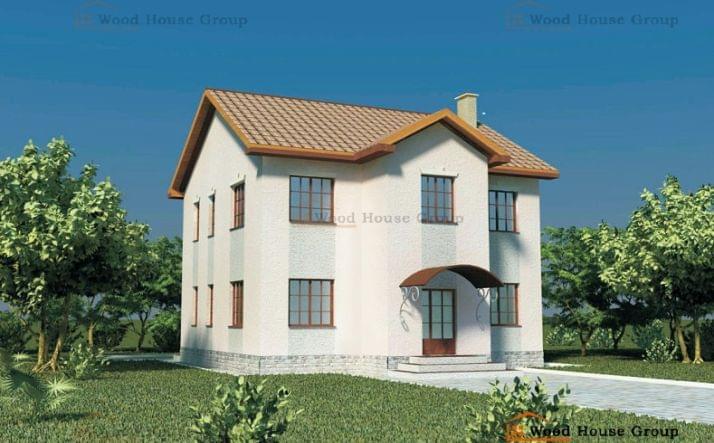 Проект двухэтажного дома из пеноблоков «Надежда» (арт. 73/10)
