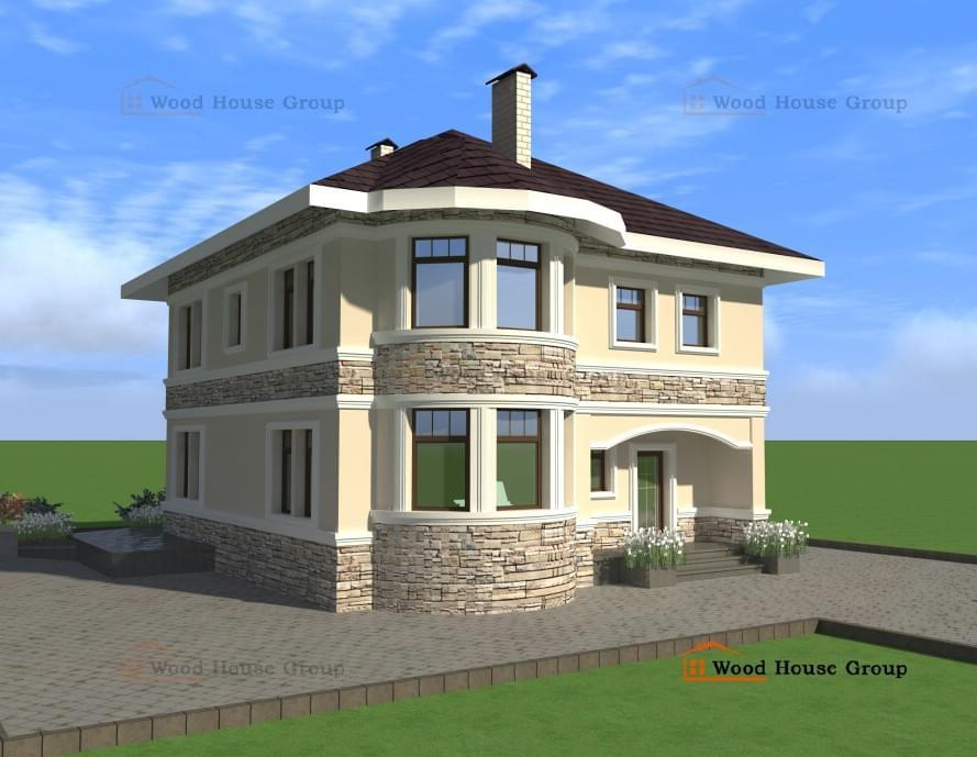 дом из пеноблоков 150 кв.м фото