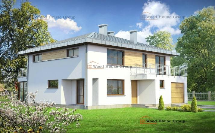 Двухэтажные дома с гаражом 170 квадратов