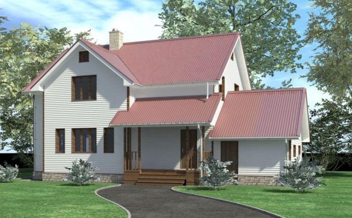 Проект дома из газобетона «Виктория»