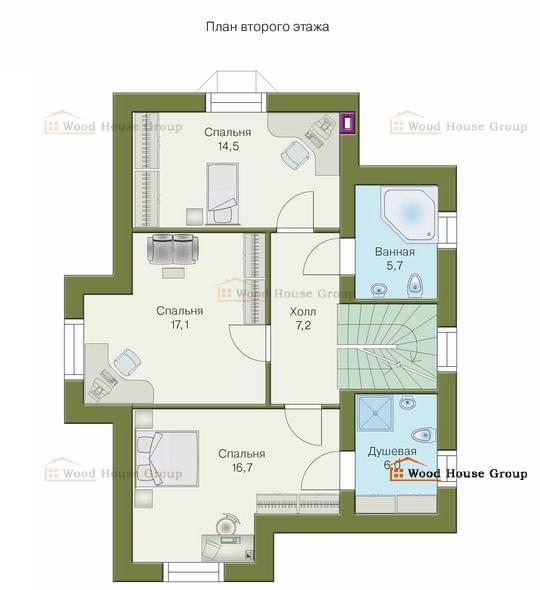 проекты 2 этажных домов недорогих
