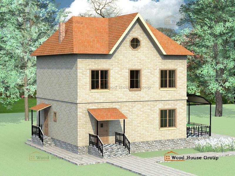Кирпичные дома эконом класса проекты фото