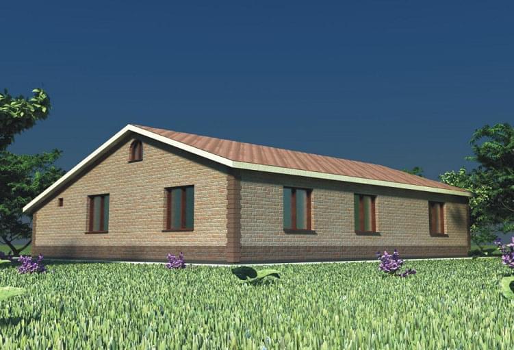 Проект дома из пеноблоков «Завидово